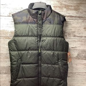 Athletech - Puffer Vest - Mens Size Small - Green